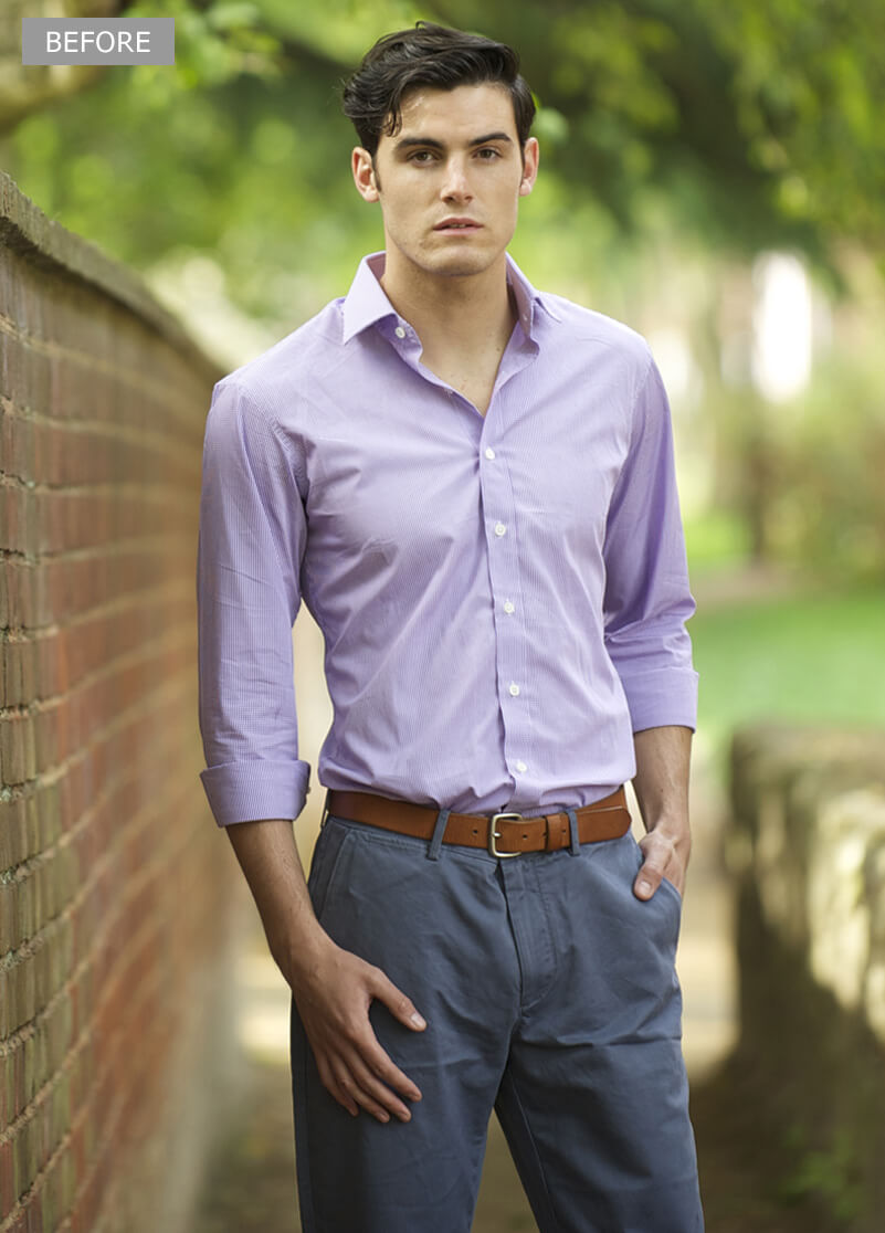 Male Model Photo Retouching Services - Before