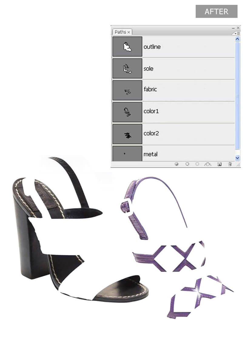 Footwear Image Masking Services - After