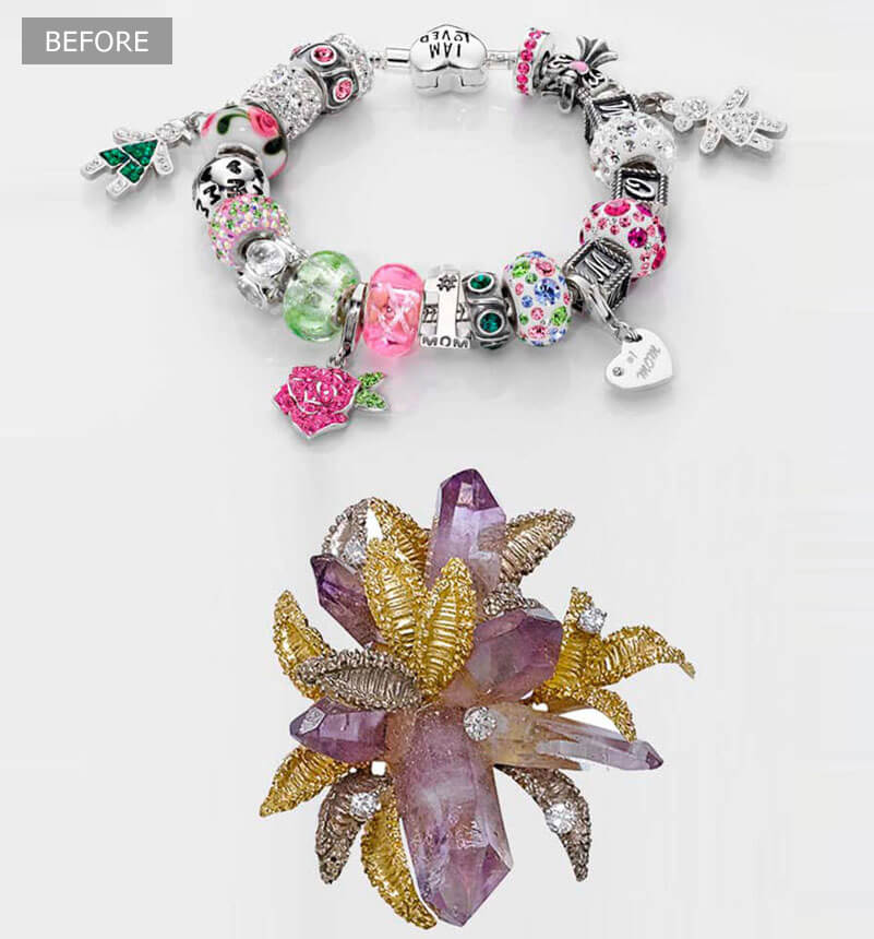 Jewelry Product Retouching Services - Before